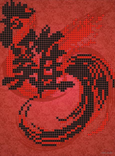"Вышивка бисером ""Огненный петух"" (120х160 мм; арт. РС-376) — фото, картинка"