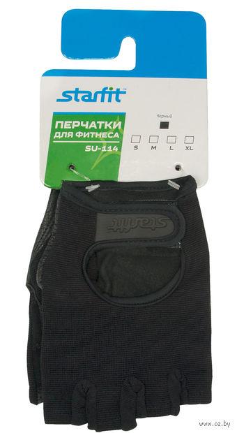 Перчатки для фитнеса SU-114 (S; чёрные) — фото, картинка
