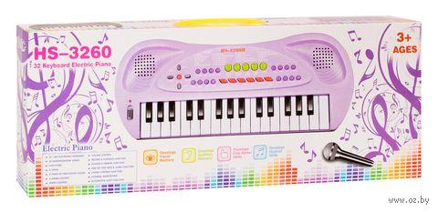 """Музыкальная игрушка """"Синтезатор с микрофоном"""" (арт. HS3260B) — фото, картинка"""