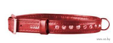 """Ошейник со стразами премиум класса """"Collar brilliance"""" (30-39 см, красный, арт. 30583)"""