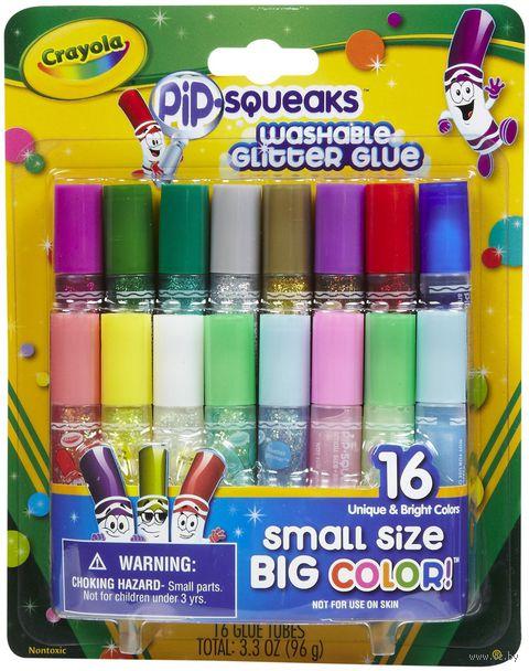 """Клей с блестками """"Crayola"""" (16 цветов; арт. 69-4200)"""