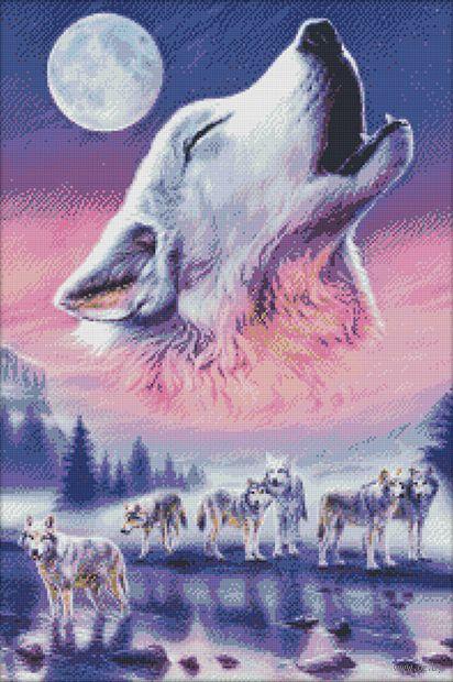"Алмазная вышивка-мозаика ""Волки"" (500х750 мм) — фото, картинка"