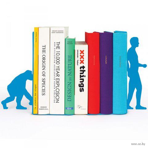 """Ограничитель для книг """"Evolution"""" (голубой)"""