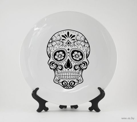 "Тарелка ""Мексиканский череп"" (арт. 227)"