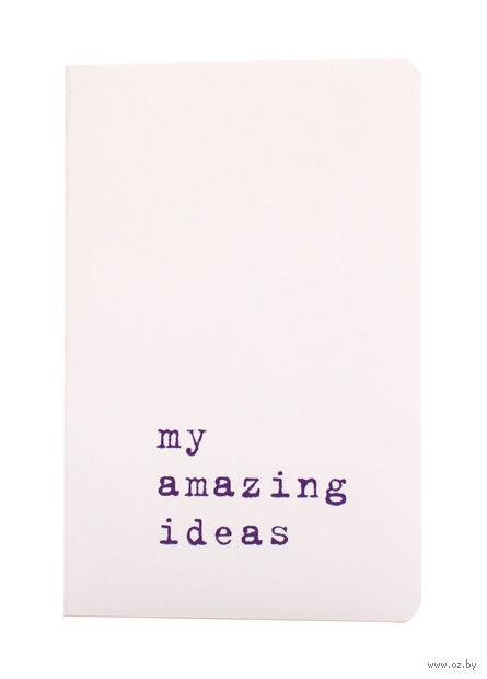 """Записная книжка Молескин """"Volant. My Amazing Ideas"""" нелинованная (карманная; мягкая белая обложка)"""