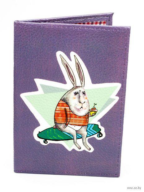 """Обложка на паспорт """"Кролик с кексиком"""""""