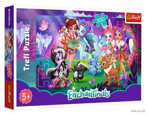 """Пазл """"Enchantimals. Весело с друзьями"""" (100 элементов) — фото, картинка"""