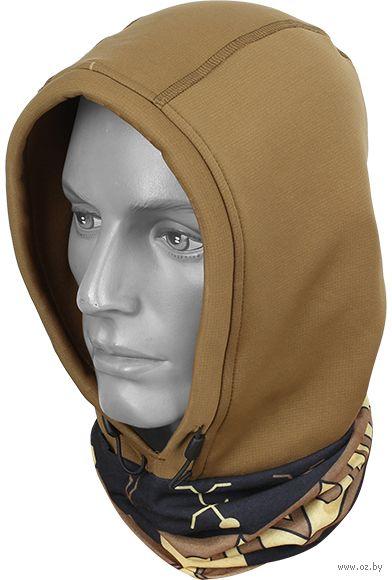 """Бандана-капюшон """"Polartec Wind Pro2"""" (коричневая) — фото, картинка"""