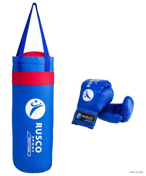 Набор для бокса (6 унций; синий) — фото, картинка