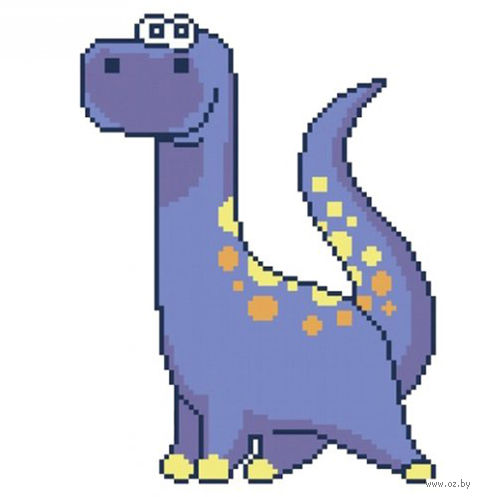 """Вышивка крестом """"Динозавр"""""""