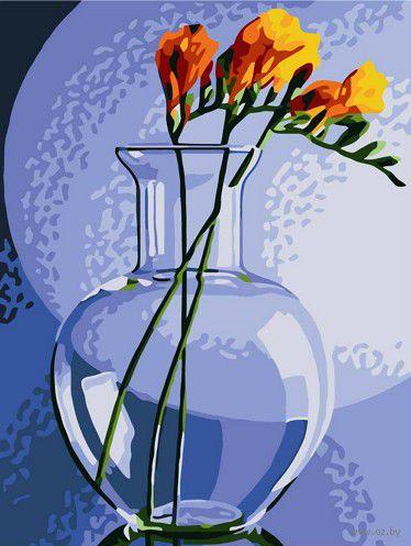 """Картина по номерам """"Фрезия в вазе"""" (300х400 мм)"""