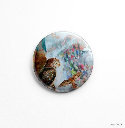 "Значок маленький ""Сова"" (арт. 336) — фото, картинка"