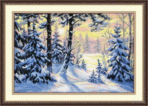 """Вышивка крестом """"Зимний лес"""" (400х270 мм) — фото, картинка"""