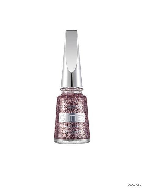 "Лак для ногтей ""Glitter Nail Enamel"" (тон: 15, red in silver) — фото, картинка"