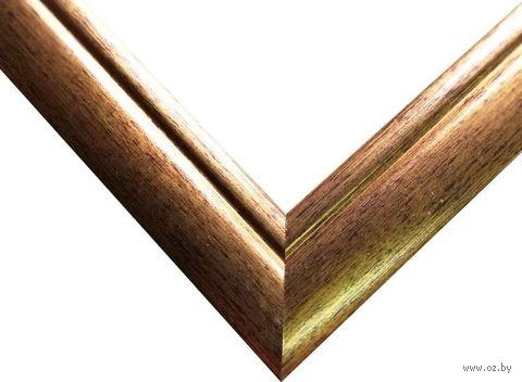 Рамка деревянная для картины по номерам (40х50 см; золото) — фото, картинка