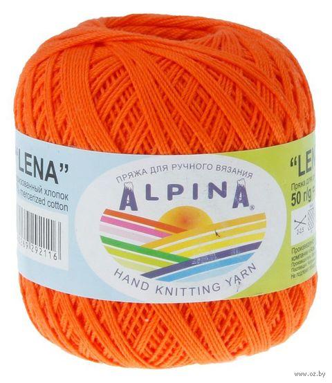 """Пряжа """"ALPINA. Lena №20"""" (50 г; 280 м; оранжевый) — фото, картинка"""