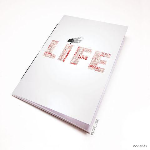 """Блокнот белый """"Life"""" А5 (397)"""