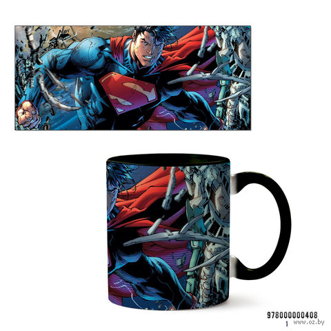 "Кружка ""Супермен"" (арт. 408, черная)"
