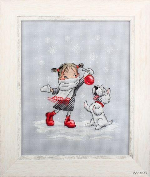 """Вышивка крестом """"В вальсе снежинок"""" (170x210 мм) — фото, картинка"""