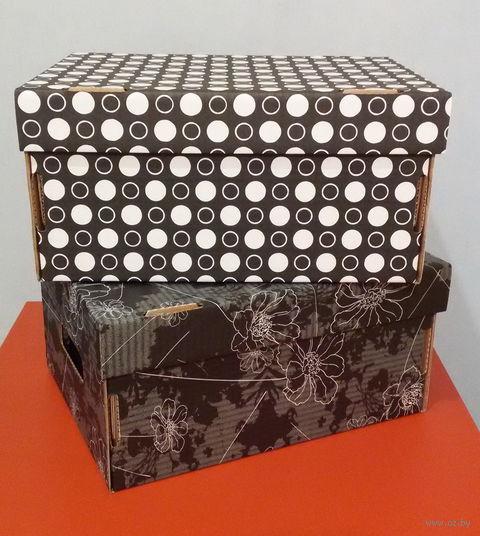 Набор коробок (2 шт.; черные; арт. GDK002d)