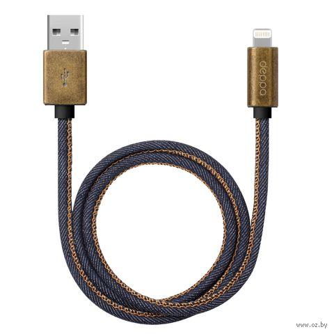 Кабель Deppa Lighting Jeans USB - 8-pin для Apple 72275 — фото, картинка