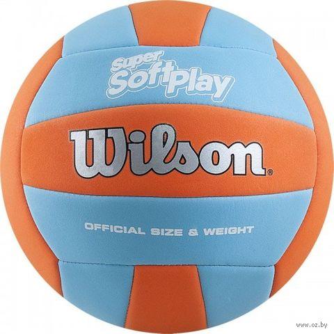 """Мяч волейбольный Wilson """"Super Soft Play"""" №5 — фото, картинка"""