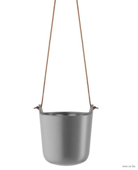 Цветочный горшок с функцией самополива (15,4 см; серый) — фото, картинка