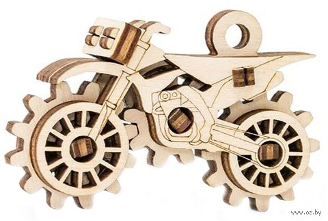 """Сборная деревянная модель """"Брелок. Кроссбайк"""" — фото, картинка"""