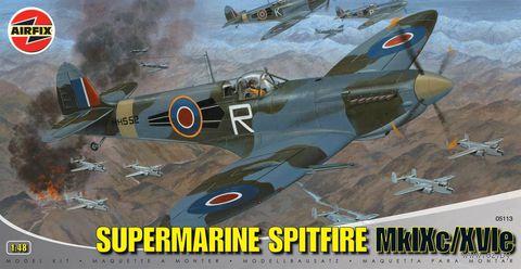"""Истребитель """"Supermarine Spitfire MkIXc/XVIe"""" (масштаб: 1/48) — фото, картинка"""