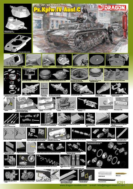 """Средний танк """"Pz.Kpfw.IV Ausf.C"""" (масштаб: 1/35) — фото, картинка"""