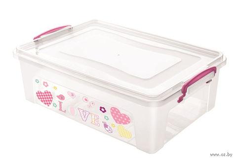 Ящик для хранения пластмассовый с крышкой (10 л; 40х27х11,5 см)