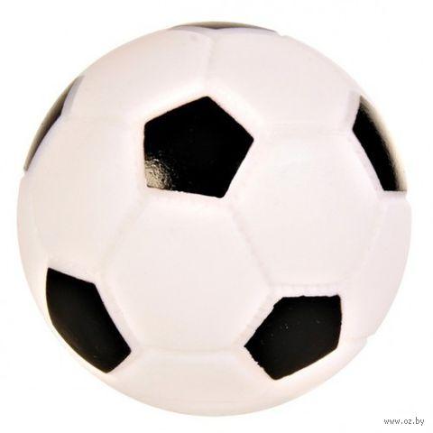 """Игрушка для собак с пищалкой """"Футбольный мяч"""" (10 см) — фото, картинка"""
