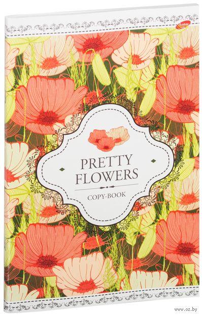 """Тетрадь общая в клетку """"Pretty Flowers"""" (А4; 80 листов; в ассортименте) — фото, картинка"""