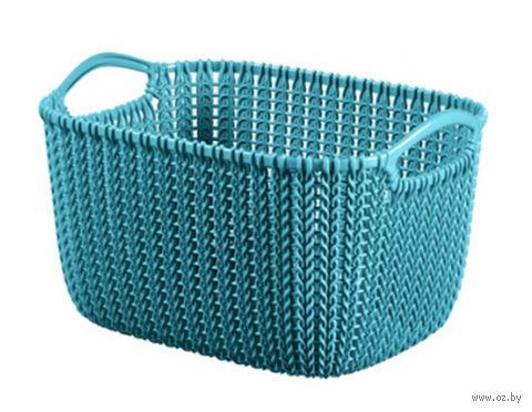 """Корзина """"Knit L"""" (морская волна) — фото, картинка"""