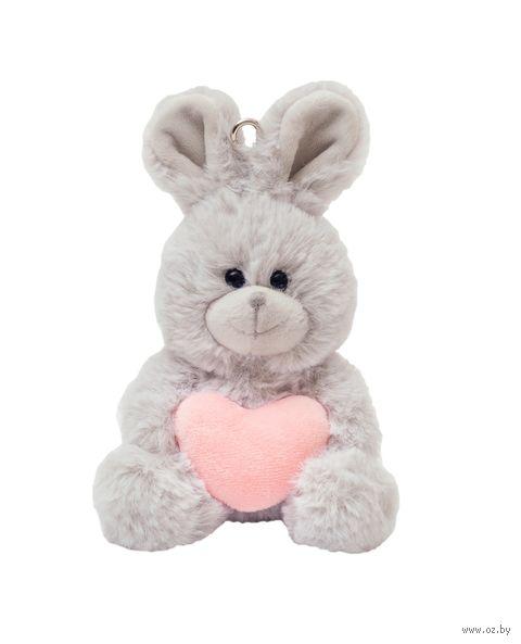 "Мягкая игрушка-брелок ""Зайка с сердечком"" (13 см; арт. XY8141A) — фото, картинка"