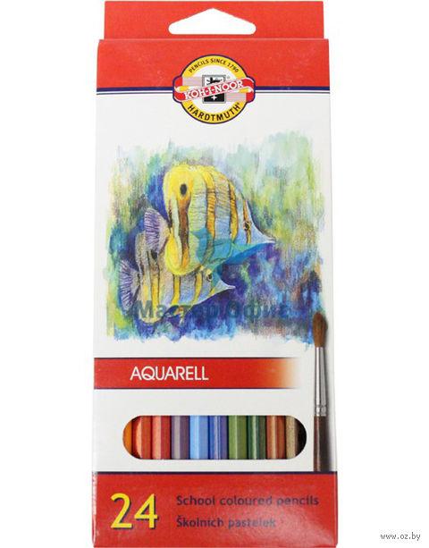 """Набор карандашей цветных акварельных """"Рыбки"""" (24 цвета)"""