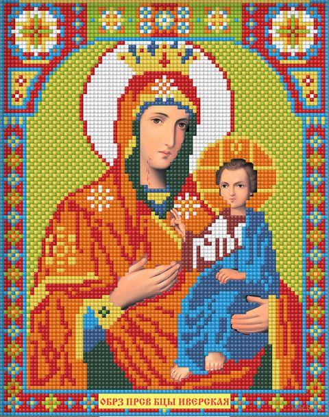 """Алмазная вышивка-мозаика """"Икона Иверская Богородица"""" (220х280 мм; арт. АЖ-2010) — фото, картинка"""