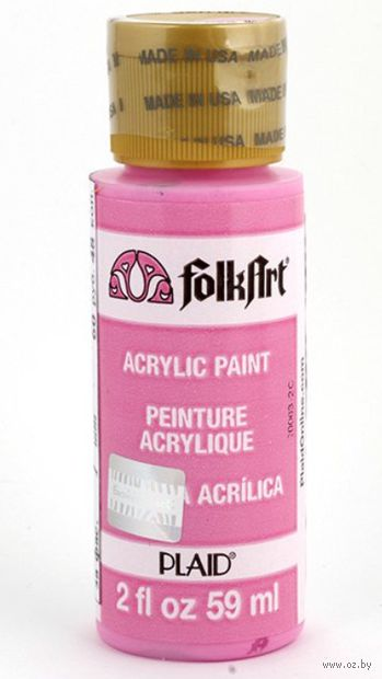 "Краска акриловая ""FolkArt. Acrylic Paint"" (щекотливо-розовая; 59 мл; арт. PLD-00319) — фото, картинка"