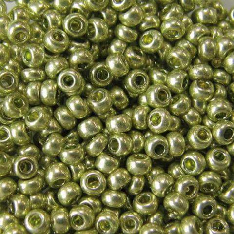 Бисер №18154 (фисташковый металлик, перламутровый)