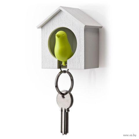 """Брелок-свисток и держатель для ключей """"Sparrow"""" (белый/зеленый)"""