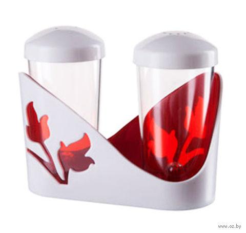 """Набор для специй """"Viola"""" (красный полупрозрачный) — фото, картинка"""