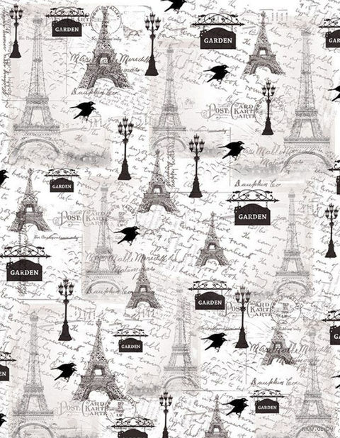 "Калька с принтом ""Ретро, Париж"" (А4) — фото, картинка"