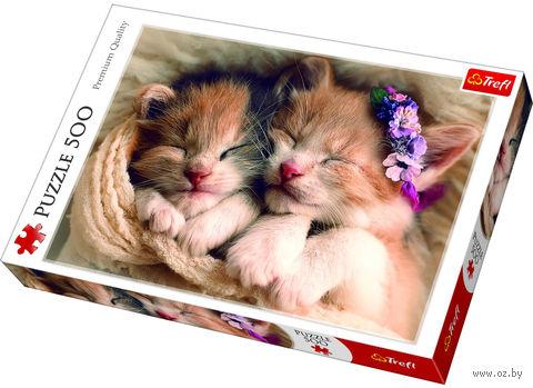 """Пазл """"Спящие котята"""" (500 элементов) — фото, картинка"""