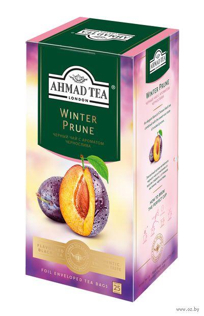 """Чай черный """"Ahmad Tea. Зимний чернослив"""" (25 пакетиков; саше) — фото, картинка"""