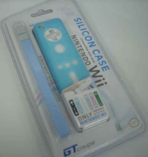 Wii Чехол + ремешок (silicon Case Remote + strap GT-coupe JM-908)