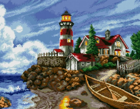 "Алмазная вышивка-мозаика ""Огни маяка"""