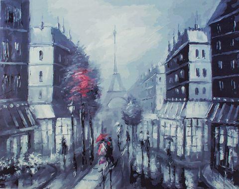 """Картина по номерам на холсте """"Париж"""" (400х500 мм) — фото, картинка"""