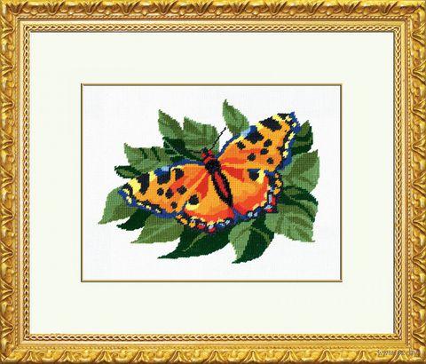 """Вышивка крестом """"Бабочка"""" (180x220 мм) — фото, картинка"""