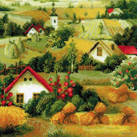 """Вышивка крестом """"Сербский пейзаж"""" (400х400 мм) — фото, картинка"""
