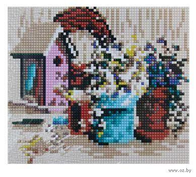 """Алмазная вышивка-мозаика """"Садовая композиция"""" (170х200 мм) — фото, картинка"""